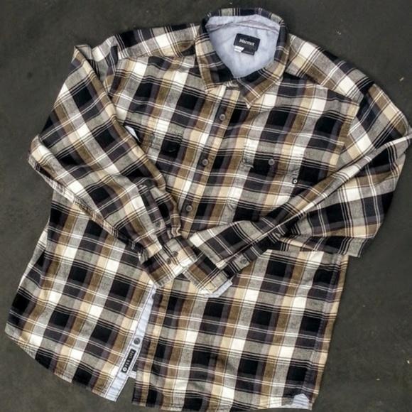 """Marmot Other - Marmot """"Jasper"""" plaid flannel shirt 2 pockets XXL"""